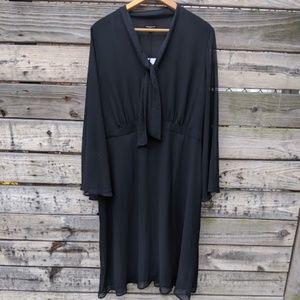 NWT WhoWhatWear Black Sheer Sleeved Dress Size XXL
